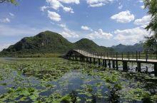 普者黑是个好地方,外景拍摄的不二之选,蓝蓝的天空,绿绿的湖水,一叶扁舟,桃源仙境。