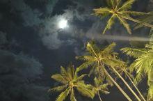 阿罗那海滩的夜色,惬意的狗狗,惬意的游客,明天下海泡一泡