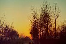 这是一轮高阳早晨六点多的太阳,早早的看看日出,吃点早餐