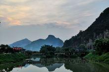 峰林小镇,住在九龙镇上的沿途景