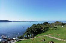 滨名湖,蔚蓝色,非常干净整洁安静,人特别少