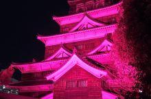 广岛城。正好赶上了灯光活动。图片没有p。就是这种演出。挺好的。
