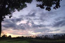 绿地缤纷城雨后的天空,想起了电影怦然心动