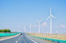 沿途的风光/风力发电厂  在前往草原的路上见到的最多的就是风车了 远看着不大,小时候总觉得这个风车就