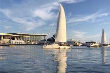 青岛旅游,白天坐帆船出海体验,晚上有幸还观看了奥帆中心情人坝的焰火表演  青岛旅游,特别想说一下的