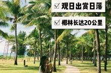 """三亚观赏日出日落的好去处,椰林长达20公里,景色不输泰国 三亚可以说是我国最美的海岛城市,它有着""""东"""