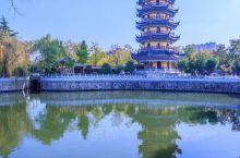 """寺门朝北的寺庙你见过吗? 这次旅途中,有幸得见如皋著名的千年古刹定慧寺,而其""""碧水环寺、山门北向、丹"""