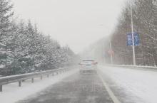 去往雪乡的路上,漫天飞舞的飘雪,圣诞最圣洁的礼物!
