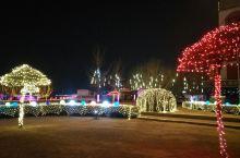 灯火通明的东湖水塔!清徐县城的万家灯火!