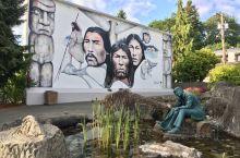 加拿大温哥华岛上的壁画镇Chemainus。