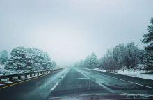 一路奔袭 穿过雪地 路过雨天 开了800多公里 八个半小时 成功抵达PAGE
