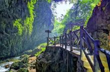 通灵大峡谷,有瀑布,钟乳石石洞,暗流,景色非常好,瀑布落差大,壮观。