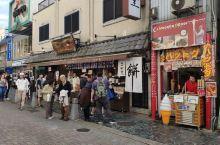 奈良公园前的饼店,排队买的人很多,味道可以,但比较甜!