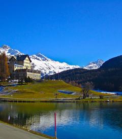 [瑞士游记图片] 在瑞士最美的圣莫里茨看一路风光秀美