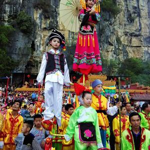 上林游记图文-破蒙彩架游,在上林万寿节见识古老民俗