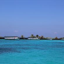 马累环礁图片