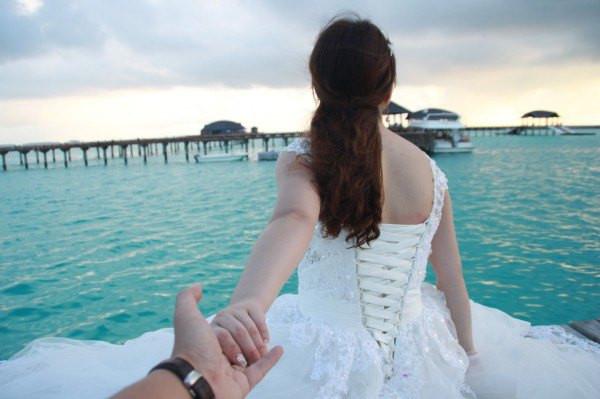 跟着最爱的你去看最美的海-带着婚纱去马代(完结)