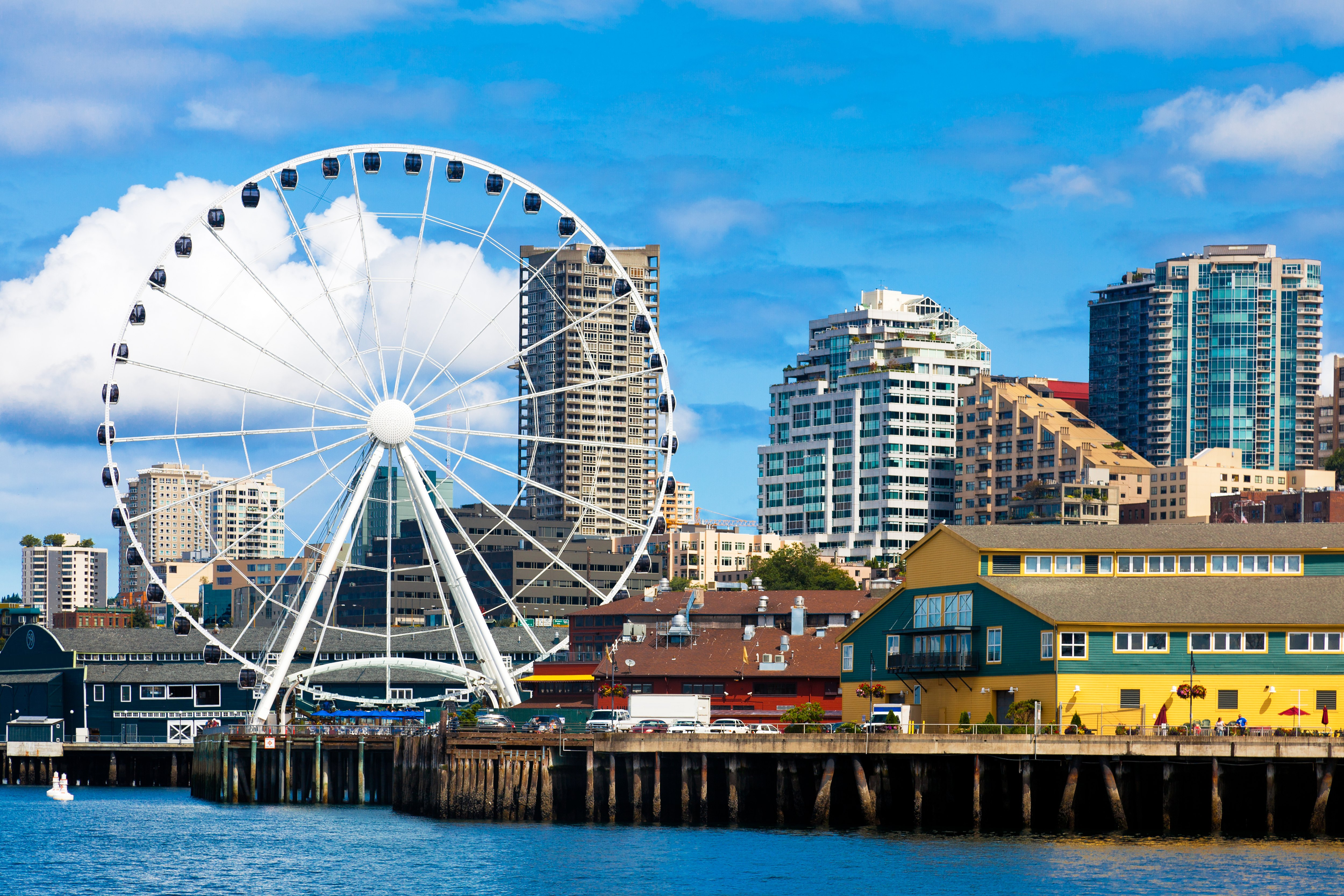 西雅图摩天轮旅游景点图片