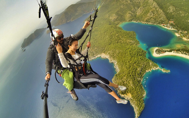 卡帕多奇亚热气球,费特希耶滑翔伞一趟上天入海的美少女狂欢大暴走!海量美图!