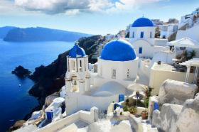 圣托里尼岛,世界只剩蓝白两色