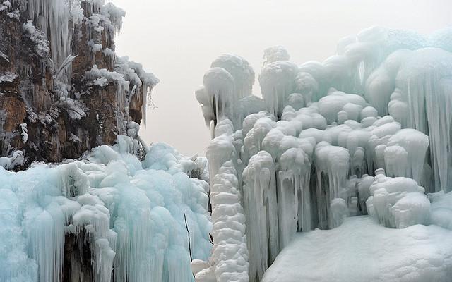 【龙居冰瀑】山沟里最冻人的风景(图组50P)