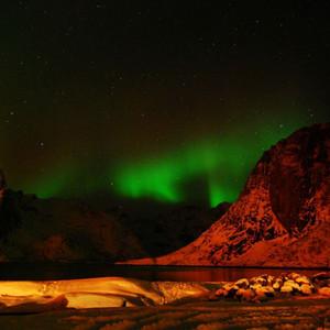 挪威游记图文-覆雪的回忆(中篇)— 极光之美(2)