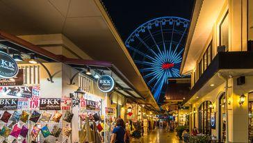 曼谷夜市摩天轮