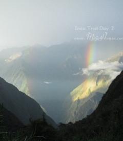 [马丘比丘游记图片] 【秘鲁】印加古道徒步行3 - 第二天:艳阳下向高原挺进,雷雨中营地的彩虹