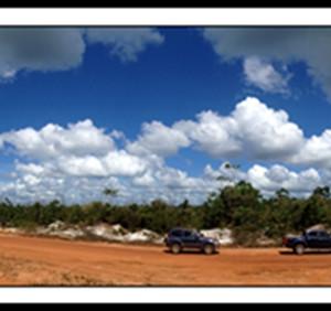 苏里南游记图文-南美森林上的蓝天白云