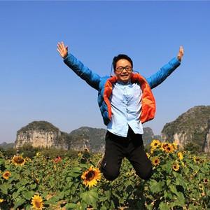 上林游记图文-广西上林霞客半岛千亩葵花美丽动人