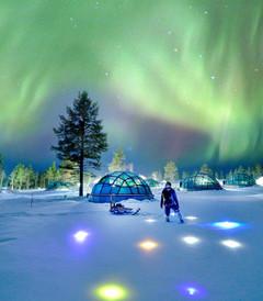 [芬兰游记图片] 芬兰极光之旅:欧若拉的裙摆