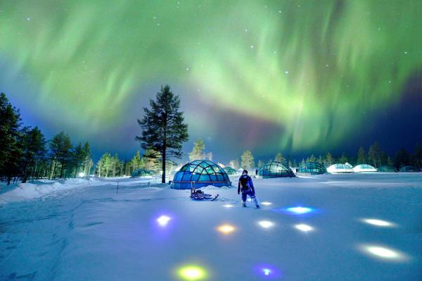 芬兰极光之旅:欧若拉的裙摆