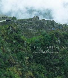 [马丘比丘游记图片] 【秘鲁】印加古道徒步行4 - 第三天:烟雨蒙蒙中,乱石岗一路直下陡峭的山路