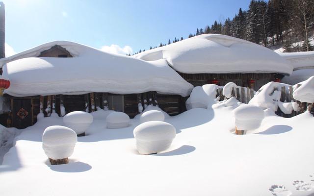 童童冬季到北方去看雪之中国雪乡站