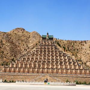 吴忠游记图文-喇嘛式实心塔群 -- 宁夏青铜峡一百零八塔