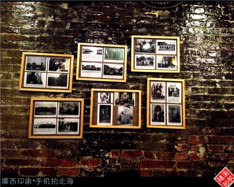 ▲北海老街 怀旧的照片墙。