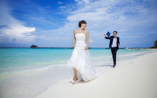 马尔代夫浪漫蜜月游带拍婚纱