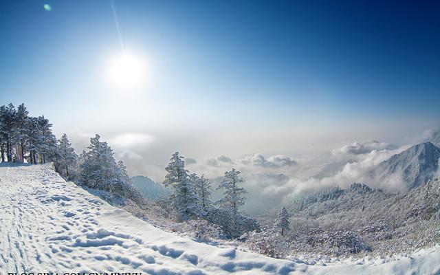 西岭雪山:未到北方,白雪茫茫