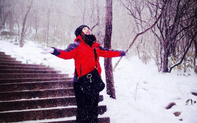 黄山下雪了
