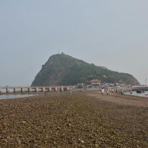 北镇游记图文-【锦州】笔架山,神奇的海上天桥