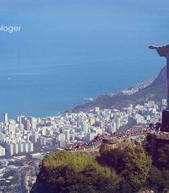 [里约热内卢游记图片] 【巴西】里约热内卢 航拍基督山