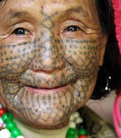 [怒江游记图片] 在独龙江对独龙族的独自探访之三——不将在世的纹面女:
