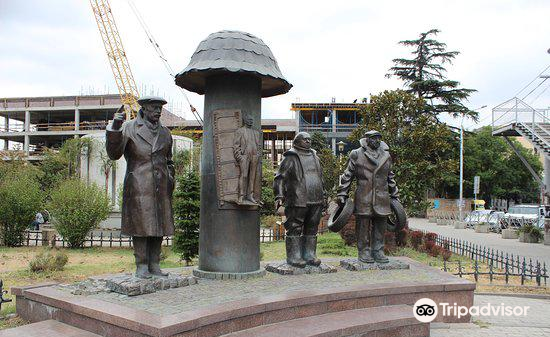 Monument to Characters of Movie Mimino4