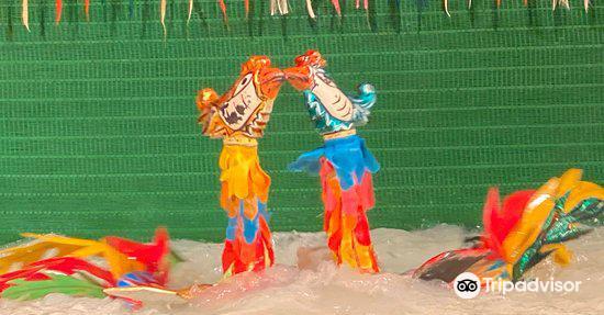 Water puppet show at Thao Dien Village