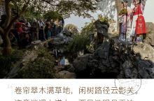 艺圃园里的戏剧人 苏州的艺圃不愧为世界文化遗产之园,藏在闹市的深巷中,一般外人j,因而游客很少正可谓